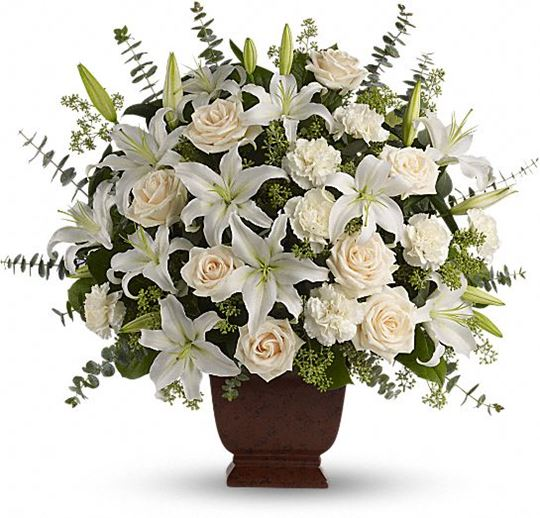 Picture of Loving Lilies and Roses Bouquet
