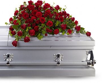 Picture of Red Rose Reverence Casket Spray