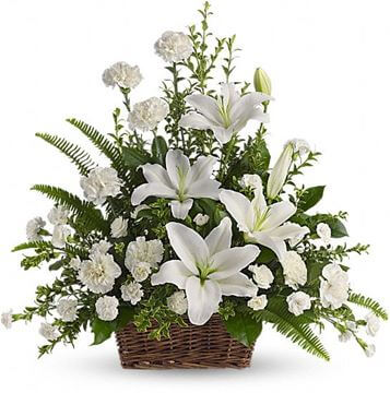 Picture of Peaceful White Lilies Basket