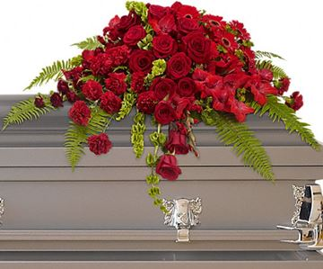 Picture of Red Rose Sanctuary Casket Spray