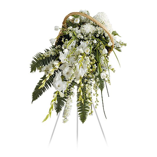 Picture of Sophistication Willow Basket Spray