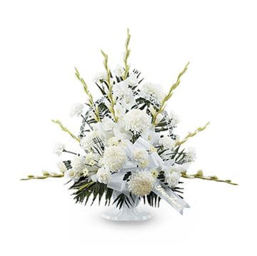 Picture of Dignity in White Pedestal Arrangement
