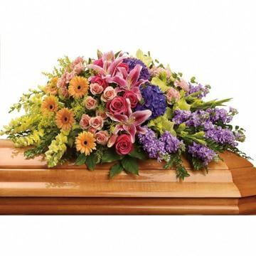 Picture of Garden of Sweet Memories Casket Spray